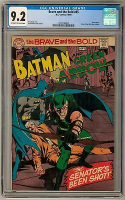 Brave and the Bold #85 CGC 9.2 (OW-W) New Green Arrow Costume