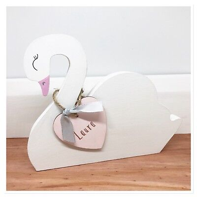 Wooden Swan Decor Nursery Decor Children's Room accessories handmade gifts
