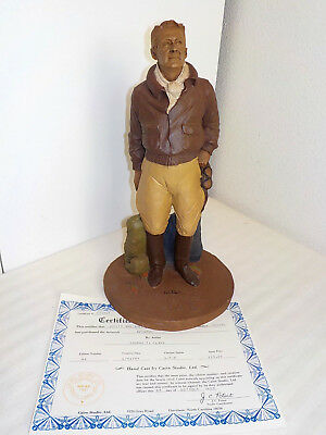 "Tom Clark Gnome Figurine ""the Aviator"" Hand Signed 1984 W/coa"