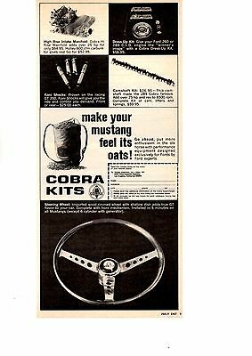 1967 Cobra Kits  ~  Rare Original Shelby American Inc Ad