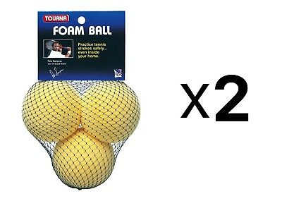 Tourna 3pc Foam Tennis Beginner Youth Practice Balls, Kids Training Aid (2-Pack)