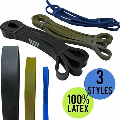 Set of 3 Heavy duty resistance band loop yoga gym fitness exercise workout power