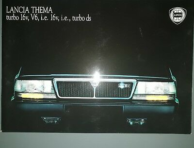Lancia Thema Brochure Catalogue Luxe
