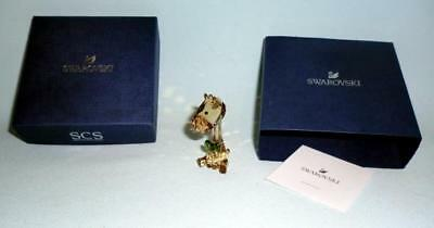"Swarovski Crystal 2"" Clear Golden Giraffe SCS Loyalty Gift 2018 5424468 Austria"
