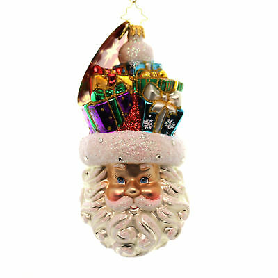 Christopher Radko GIFTS ON MY MIND 1017639 Santa Christmas Ornament