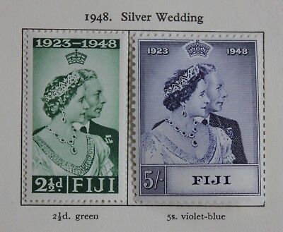 Fiji 1948 KGVI Silver Wedding set complete SG 270-271 Mounted Mint