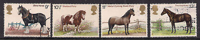 GB 1978 QE2 Horses used set of 4 stamps ( A1304 )