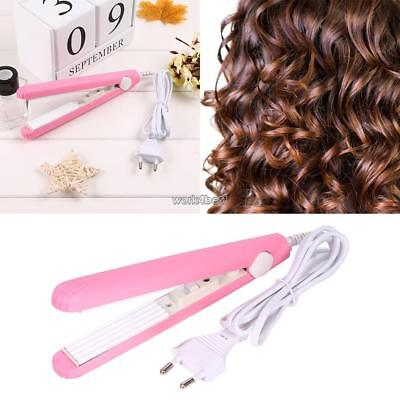 Durable Mini Thermostatic Dry And Wet Use Straightener Curler Hair WST