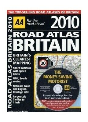 AA Road Atlas Britain 2010 (AA Atlases and Maps) by AA Publishing Spiral bound