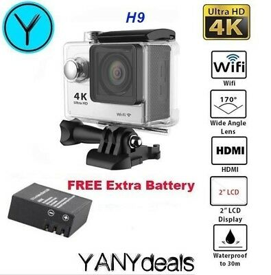 "HD 4K Action Camera Waterproof 12MP 2.0"" LCD Screen WiFi Sport DV 30M SILVER"