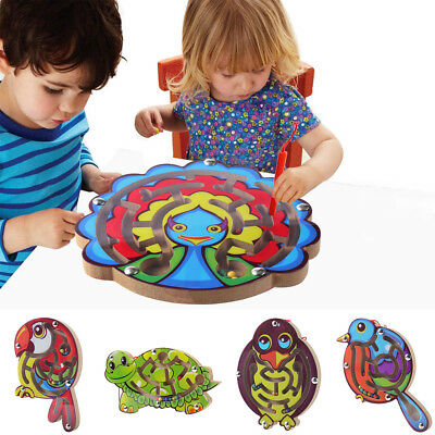 Kids Magnetic Maze Toys Kids Wooden Game Toy Wooden Intellectual Jigsaw Board AU