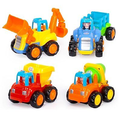Friction Powered Cars Push and Go Car Construction Vehicles Toys Set Tractor