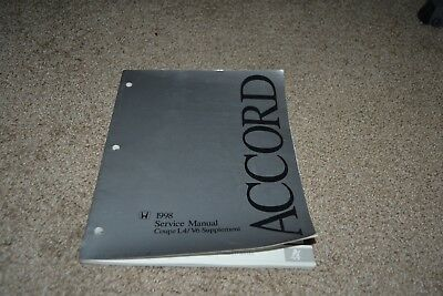 1998 Honda Accord Coupe factory service manual supplement