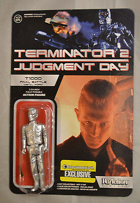 "Funko ReAction Terminator 2 T1000 Final Battle Metal 3.75"" Action Figure New"