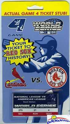 2004 Red Sox World Series Actual Game 4 Ticket Stub-1st Championship in 86 Years