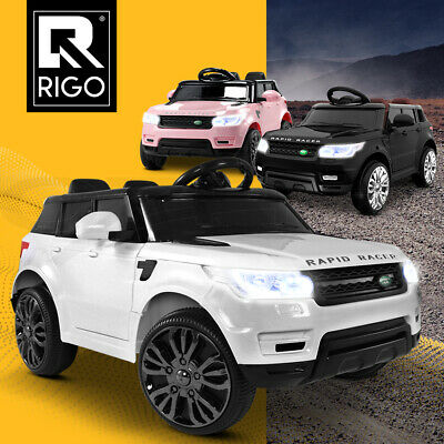 RIGO Kids Ride On Car Electric Toy Battery 12V Remote Children White Black Pink
