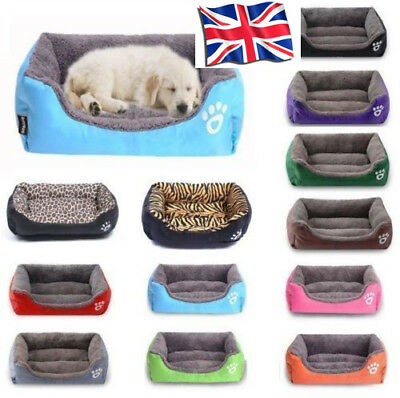 Large Medium Small Pet Dog Cat Bed Puppy Cushion Soft Warm Kennel Mat Blanket UK