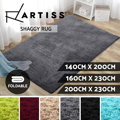 Artiss Ultra Soft Shaggy Rug Large Floor Carpet Anti-slip Design Shag Area Rugs