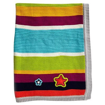 Clair de Lune Pick-N-Mix Cotton Knitted Blanket (Brights) For Baby`s Pram or Cot