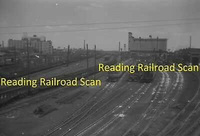 Reading Railroad Original B&w Railroad Negative Engines, Etc At Erie Ave In 1960