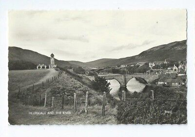 Postcard Helmsdale and The River Harvey Barton RP Sutherland