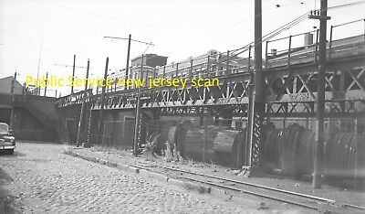Public Service Of New Jersey (Psnj) Original B&w Trolley Negative Of A Car