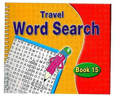 A5 Spiral Bound Word Search Books Travel Kids Adults 170 Puzzles Book 15 3090