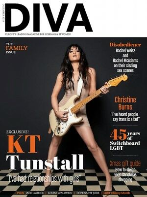 Diva Magazine December 2018 - Kt Tunstall - Christine Burns - Rachel Weisz