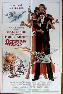Roger Moore Is James Bond Original Octopussy Us One Sheet Poster