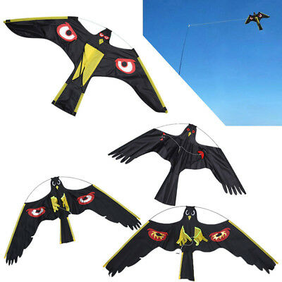 Bird Scarer Repeller Flying Hawk Kite Kit for Garden Scarecrow Yard House Decora