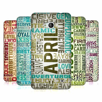 Head Case Designs Birth Month Personalities Gel Case For Microsoft Phones