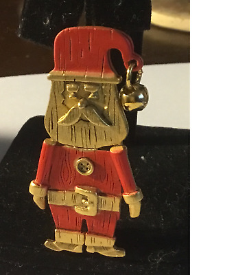 Vintage Christmas Santa Claus Pin Signed Danecraft - Really Cute Estate Find
