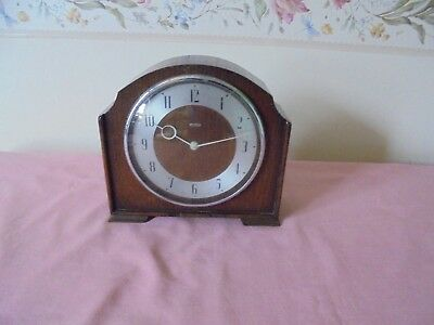 Rare Retro Wooden Surround Ingersoll Electric Mantle Clock - Working