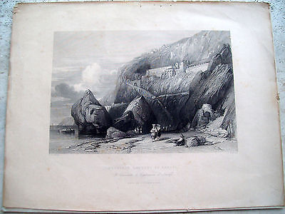 1843 Convent Dei Capuchins Of Amalfi View Sportfishing. Campania
