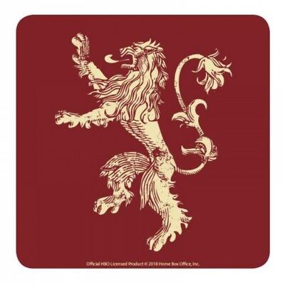 Genuine HBO Game of Thrones Lannister House Sigil Single Coaster Drinks Mat Lion