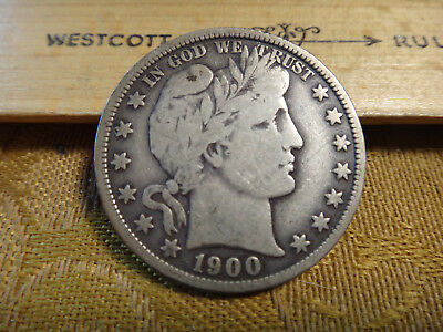 1900 United States Barber Silver Half Dollar 50c - Free S&H USA