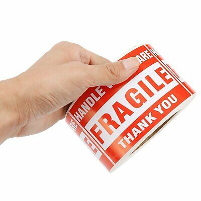 """500/Roll 3""""x5"""" Fragile Stickers Handle With Care Warning Mailing Shipping Label"""