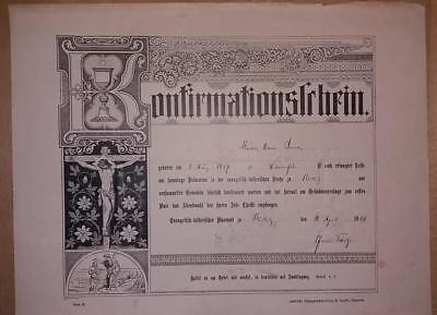 Urkunde Konfirmation Rödlitz 1901 Konfirmationsurkunde Konfirmationschein
