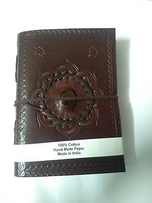 Medieval Dragon's Eye Journal Diary Handmade Leather Renaissance Fantasy Brown