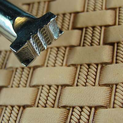 Stainless Steel Barry King - #3 Double Rope Basket Weave Stamp (Leather Tool)