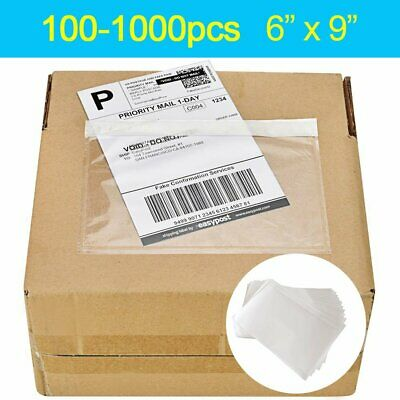 100-1000 6x9 Top Loading Adhesive Packing List Shipping Mailing Envelope Pouch