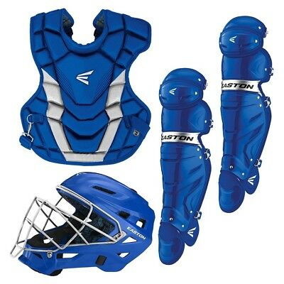 Easton A165427 Adult Gametime Royal / Silver 3-Piece Catchers Set