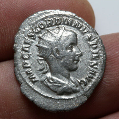 Aeqvitas Avg Ancient Lovely Roman Coin Silver Antoninianus Gordian Iii 238-244 Ad