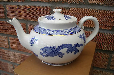 Blue & White George Jones Teapot with Dragon Pattern Chinese style c1921 +