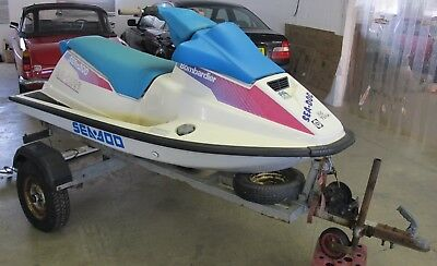 Sea Doo Bombardier with trailer and working light board  Project/ Spares repair
