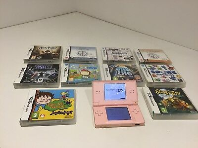 Nintendo Ds Plus 10 Games Pink All Working,with All Books