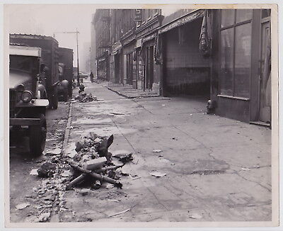 NYC STREET by JOHN DEBIASE* New York from PM * Rare VINTAGE 1940s photo