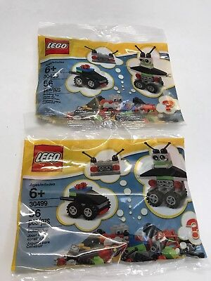 Lot of 2 Lego 30499 Vehicle, Radio, Robot or Build Your Own Polybag 56pcs NEW