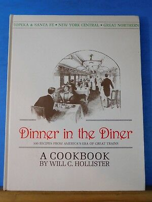 Dinner in the Diner By Will Hollister 300 Recipes Cookbook Hard Cover 3rd ed