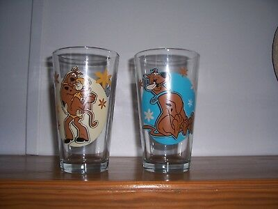 2  Scooby-Doo Made Of Glass. 16 Oz. Hanna Barbera Productions